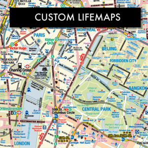 Custom Lifemap Cartographic Art