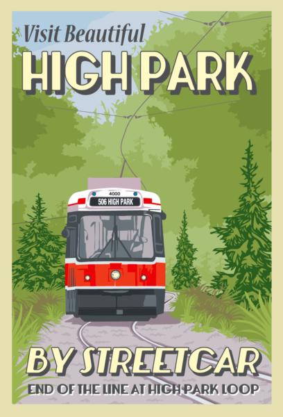 High Park Loop TTC Postcard